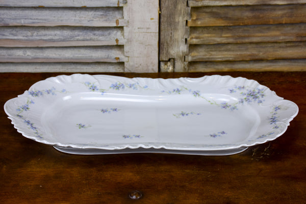 Large antique Limoges platter with flowers