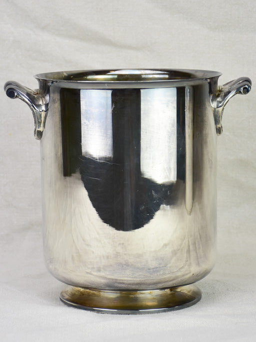 Antique French Christofle champagne bucket with pretty handles - silver plate 9""