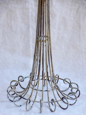 Tall wrought iron candlestick for three large candles 30""