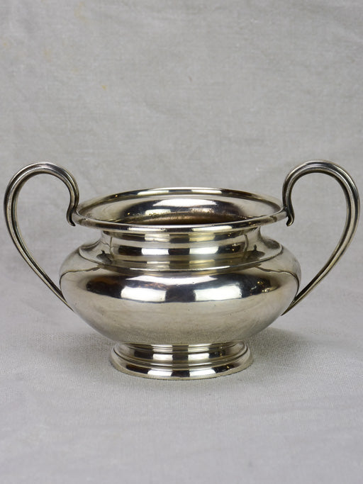 "19th Century English sugar bowl - silver plate Elkington & Co 6"" diameter"