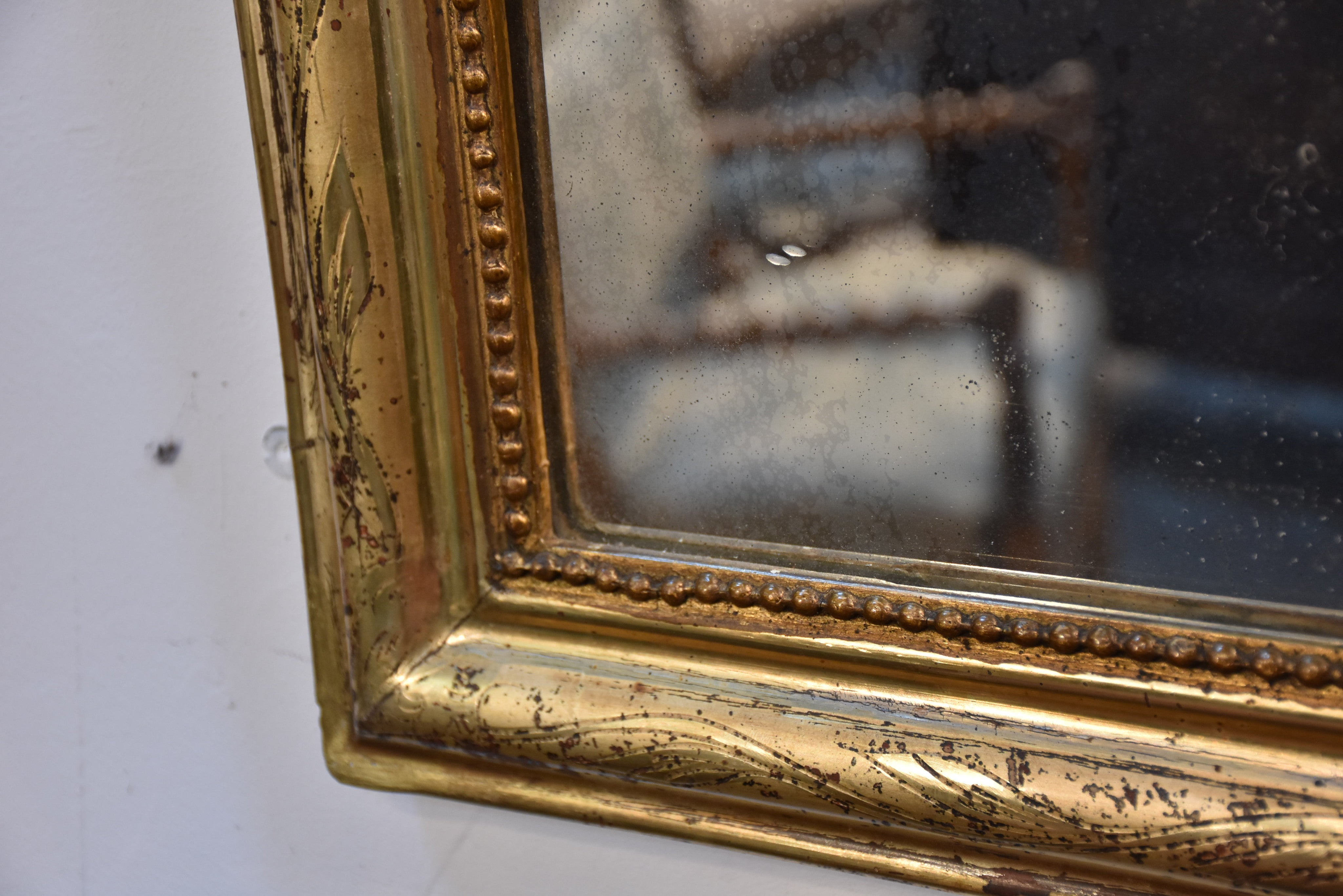 Small 19th century giltwood Louis Philippe mirror