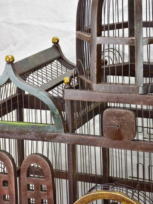 Large antique French birdcage from the early twentieth century