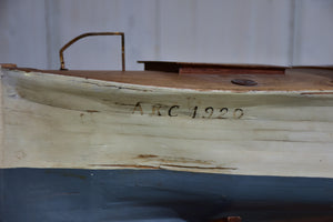 Antique French wooden boat