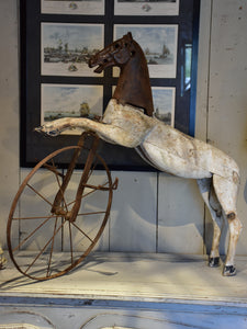 Antique French toy horse or velocipede