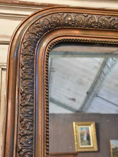 19th century Louis Philippe mirror with dark gilded frame