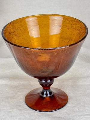 Antique Biot blown glass cup / vide poche