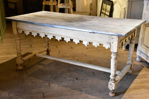 Antique French butcher's table with zinc top