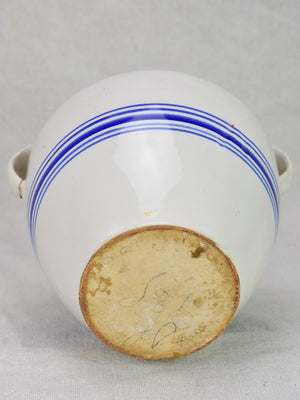 Small blue and white preserving pot7""