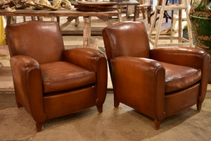 Pair of 1950's French club chairs
