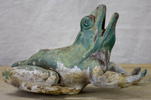 Antique French metal garden frog - 19th Century
