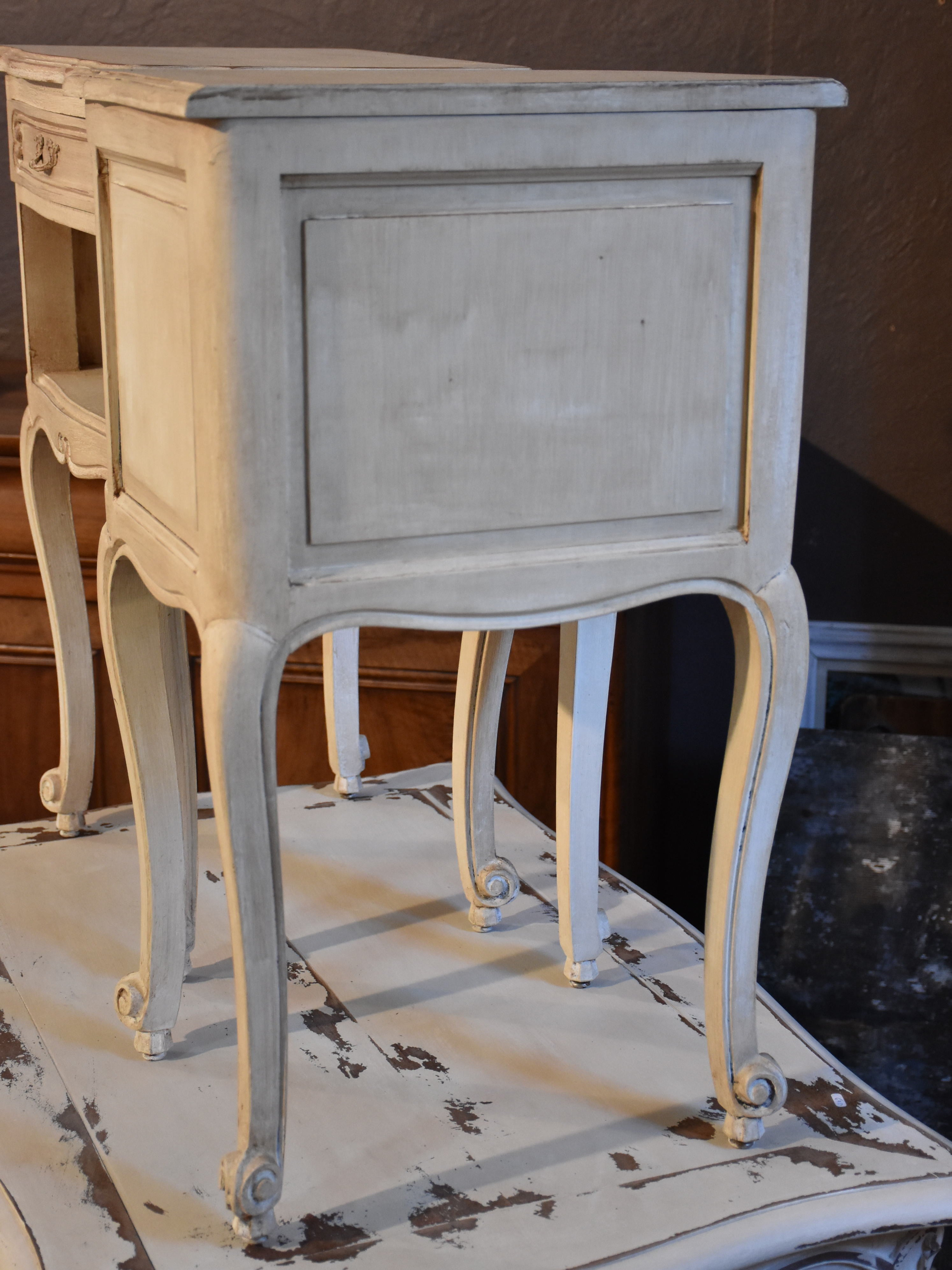 Pair of Louis XV style French nightstands