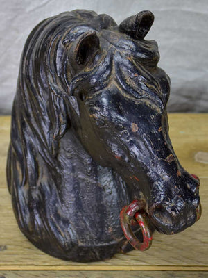 19th Century cast iron horse head from a horse stud