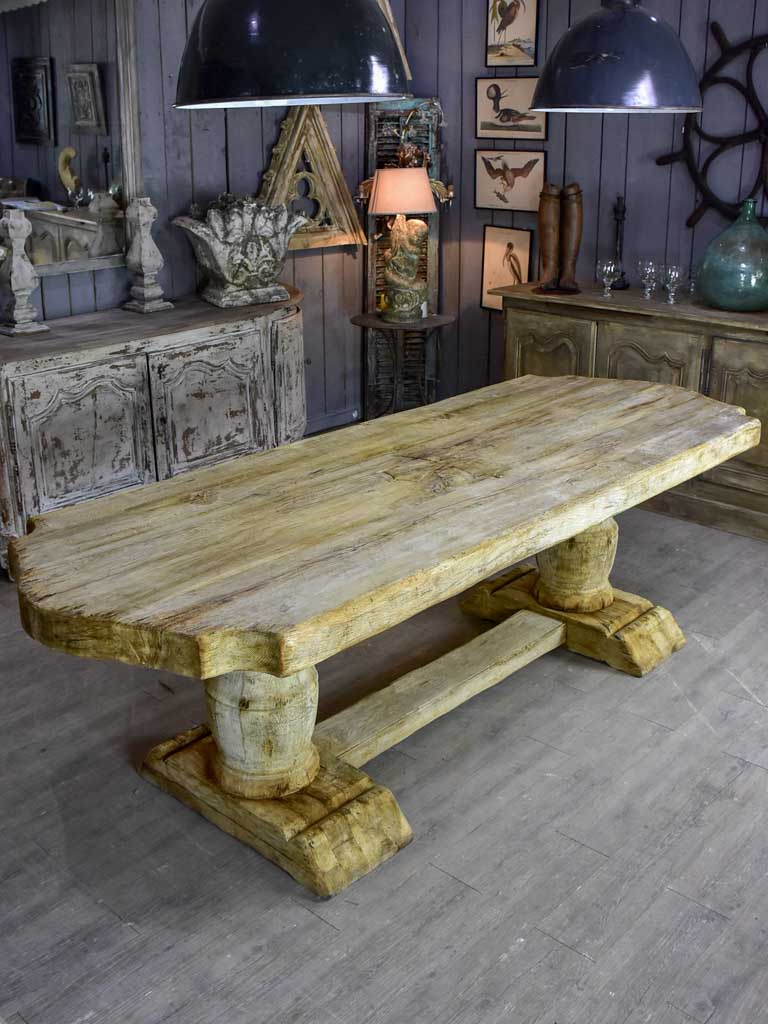"Rustic monastery oak dining table - late 19th / early 20th Century. 98½"" x 35½"""