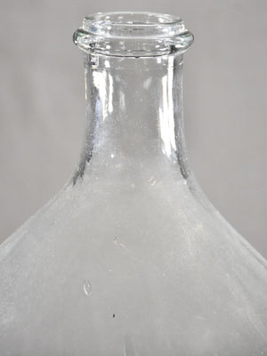 Large antique glass demijohn bottle 20¾""