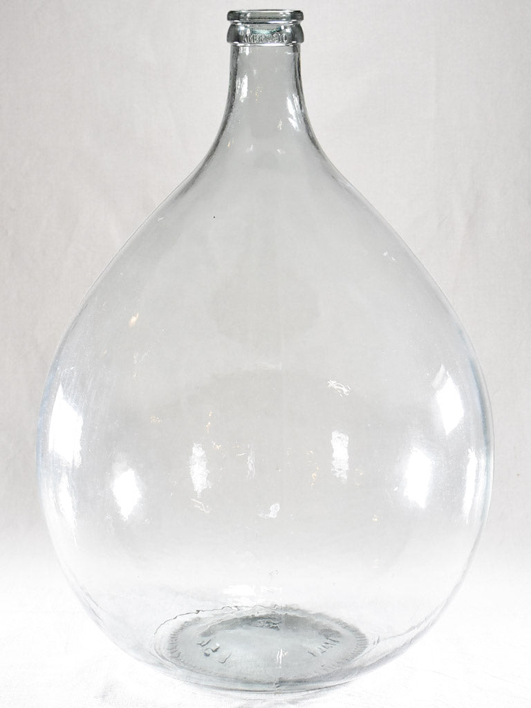 Very large Italian glass demijohn bottle - Ambrosio 26""