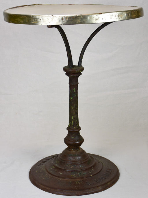 Early 20th Century French bistro table from Grenoble with stone top