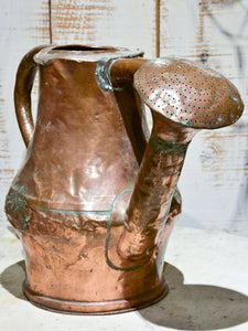 Late 18th century copper watering can