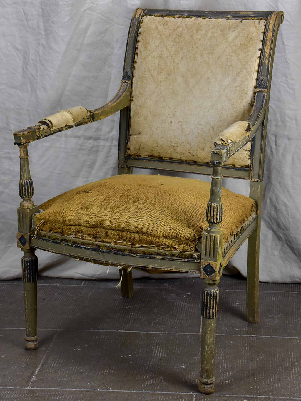 Antique French armchair - rustic