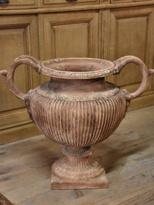 Large Italian garden urn with handles