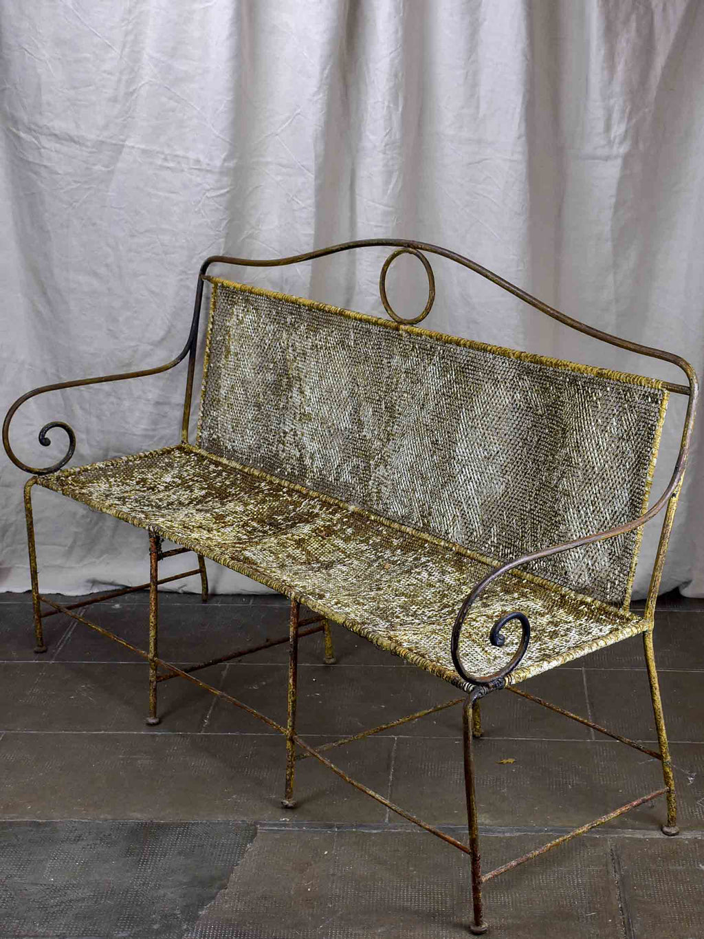 Late 19th Century French garden bench seat