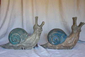 Pair of large French garden snails - 1950's