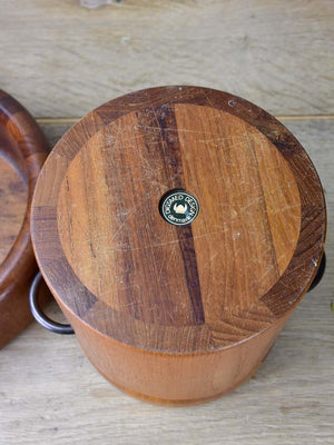 Three Digsmed teak household pieces- two bowls and an ice bucket. 1960's