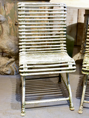 Pair of antique Arras garden chairs