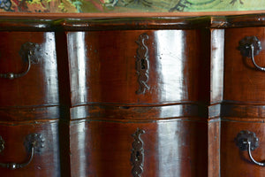 Early 18th century Louis XV double arbalete commode