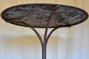 Antique French garden table with claw feet