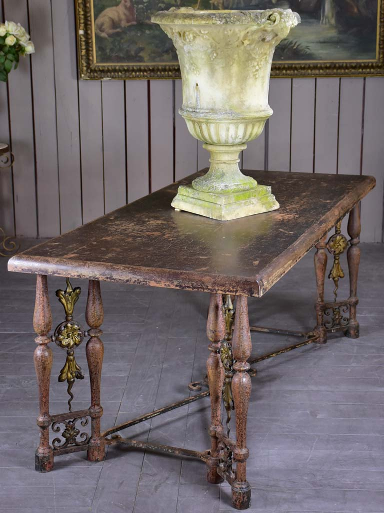 "Louis XIV style entry table 34¼"" x 73¾"""