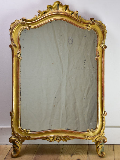 "Louis XV style mirror with gilt frame 19¾"" x 32"""