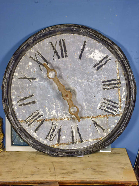 Very large antique French village clock