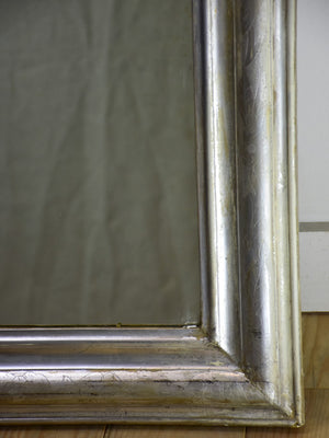 "19th Century French Louis Philippe mirror with silver frame 29¼"" x 42½"""