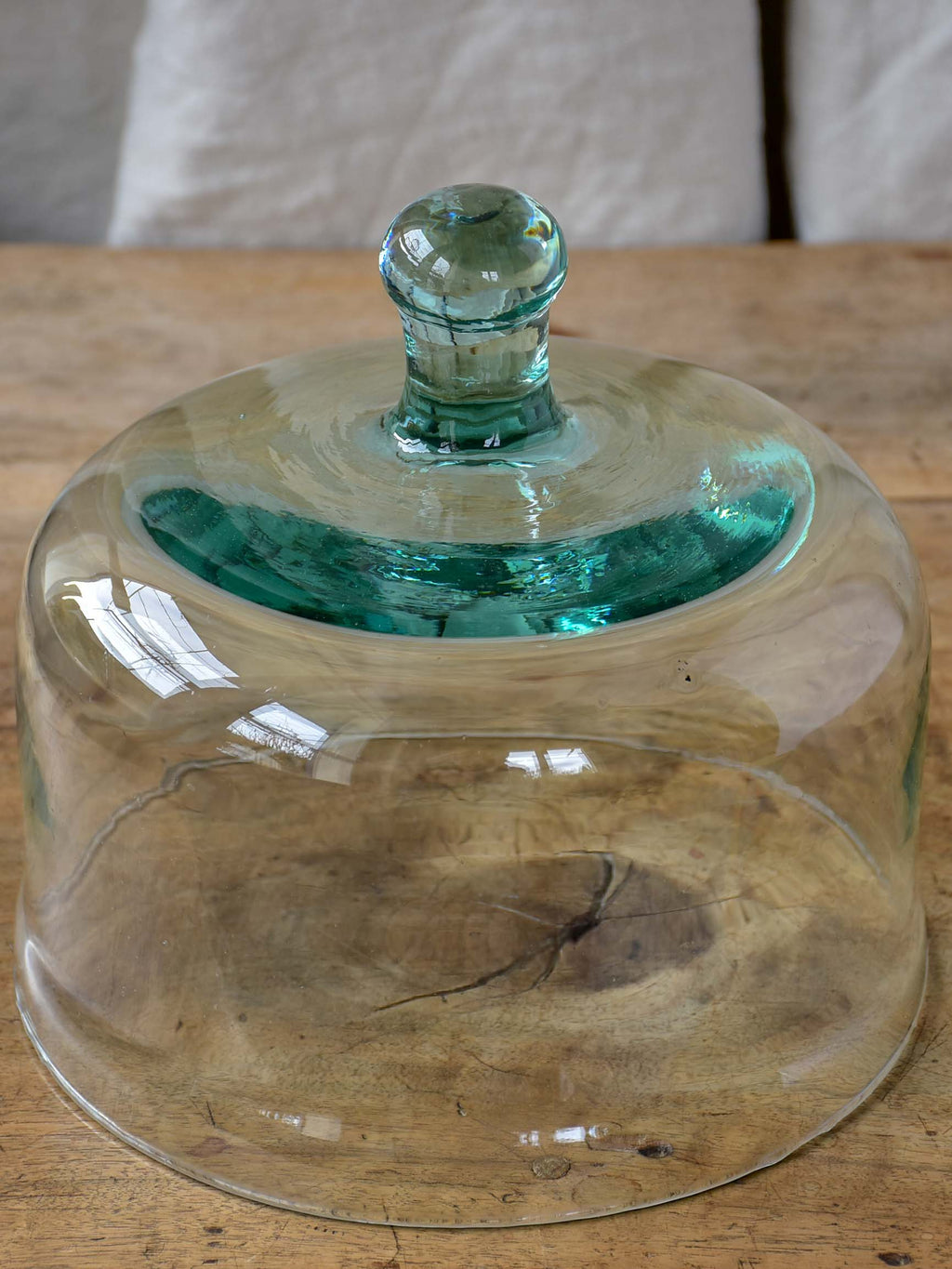 Antique French glass dome for cheese