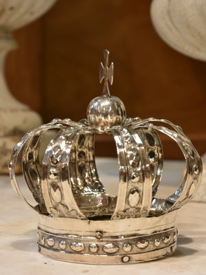 Petite French saints crown – silver plated