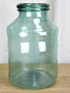 Very large blown glass preserving jar - double lip 17¼""