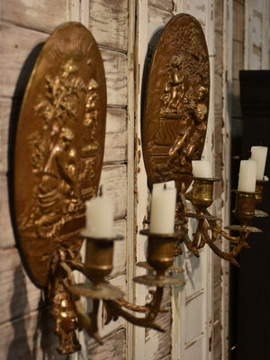 Pair of 19th century appliques for candles