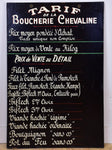 French sign from a butcher's shop 23 ½'' x 35 ½''