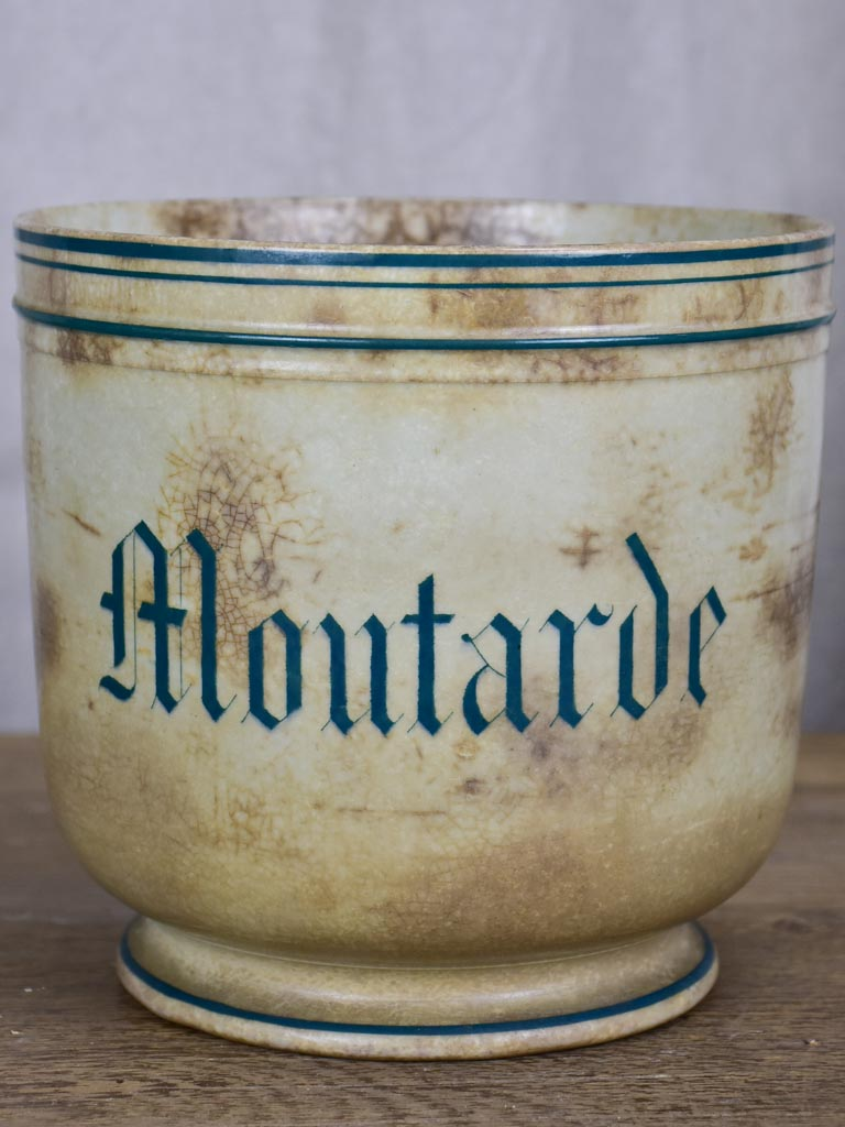 Antique French mustard pot 6¾""
