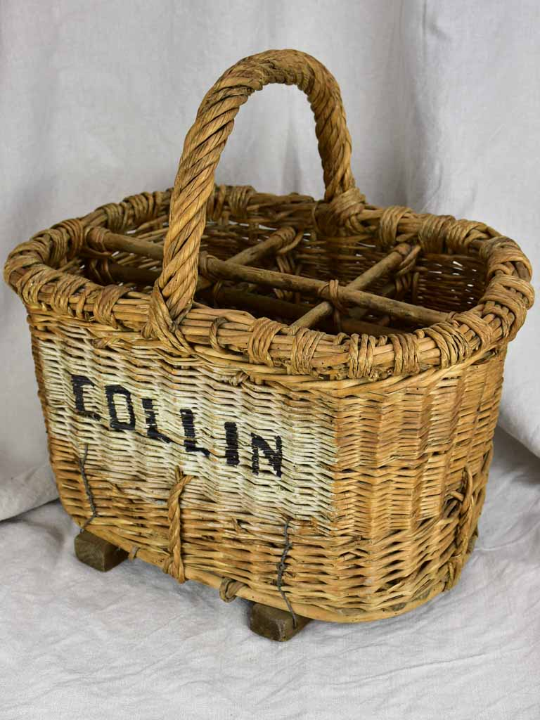 Late 19th Century French basket for bottles - from Champagne