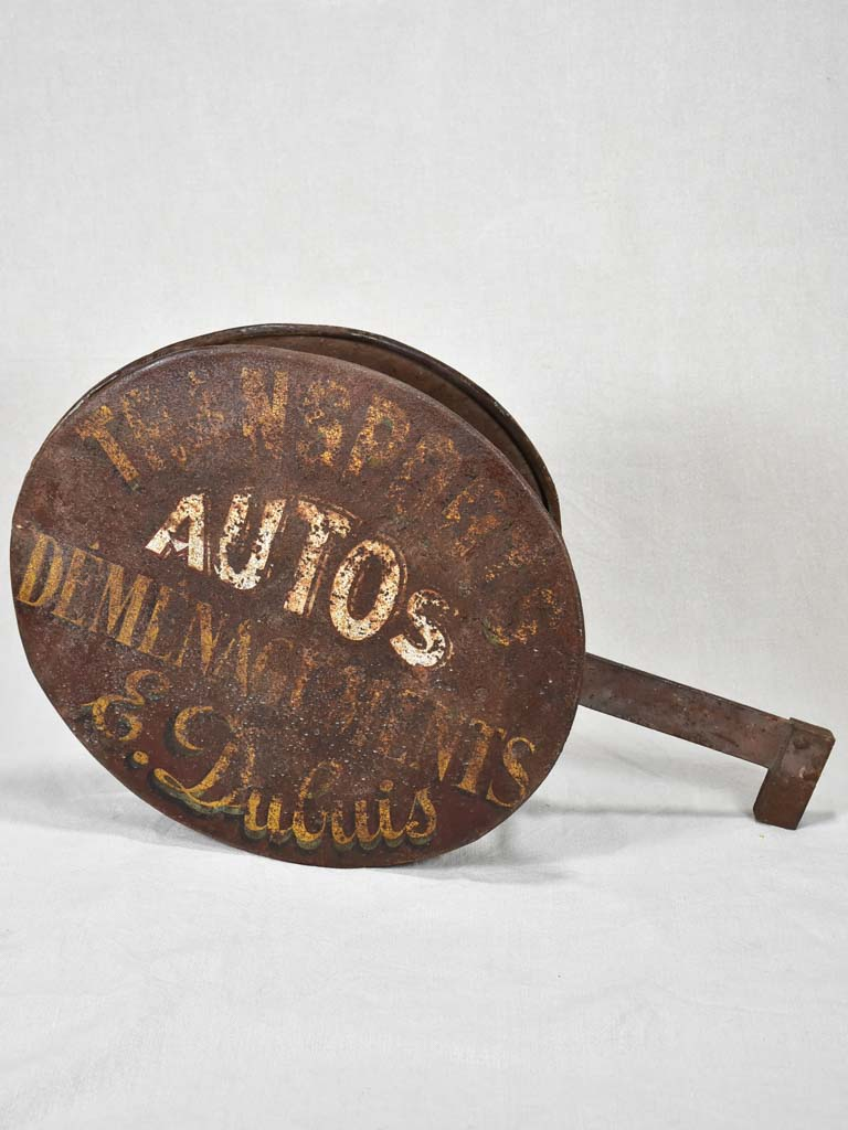 Antique French double sign - Autos 26¾""