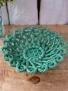 Vintage Vallauris bowl with green glaze