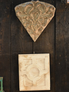 Two antique plaster castings from a French school