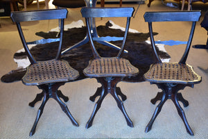 Three decorative French chairs 19th century