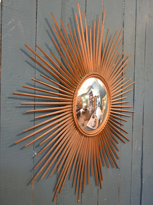 1950's Chaty Vallauris sunburst mirror