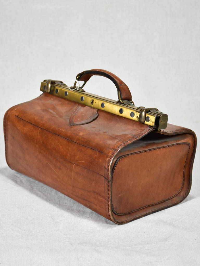 Late 19th century French leather doctor's bag