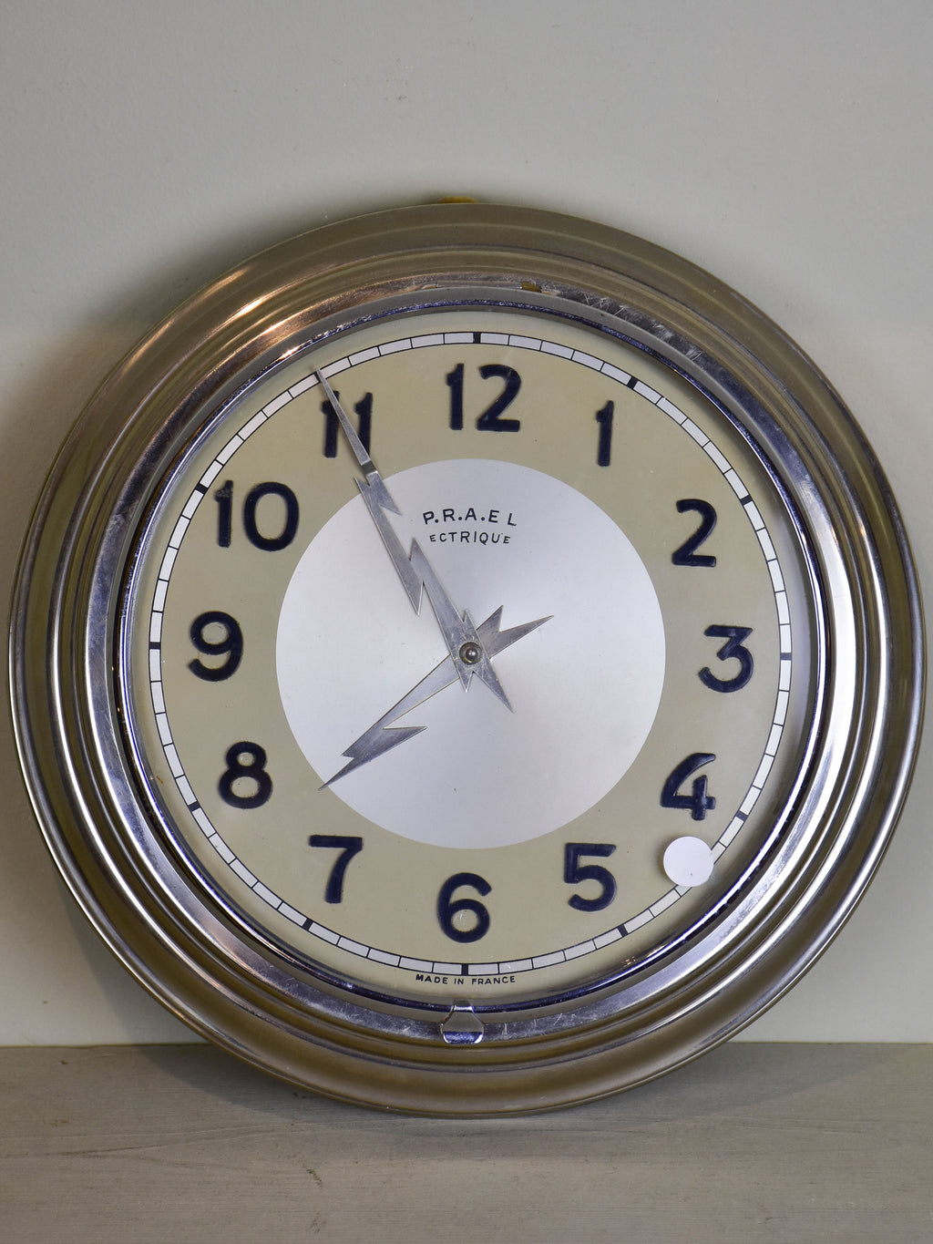 French wall clock from the 1940's P.R.A.E.L