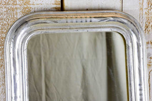 "Small mid-19th Century French Louis Philippe mirror with silver frame 17¾"" x 22½"""