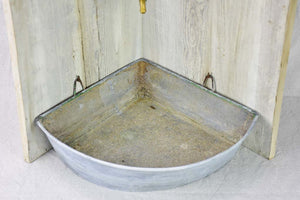 18th Century Directoire gravity water fountain - zinc and brass 29¼""