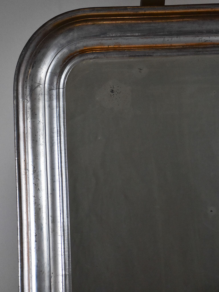 "Large antique French Louis Philippe mirror - silver frame 28"" x 40½"""